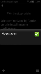 Nokia 700 - MMS - automatisch instellen - Stap 10