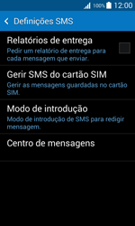 Samsung Galaxy Trend 2 Lite - SMS - Como configurar o centro de mensagens -  9