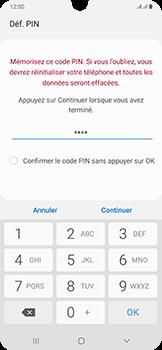Samsung Galaxy A50 - Sécurité - activéz le code PIN de l'appareil - Étape 8