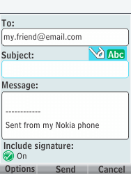Nokia 301-1 - E-mail - Sending emails - Step 10