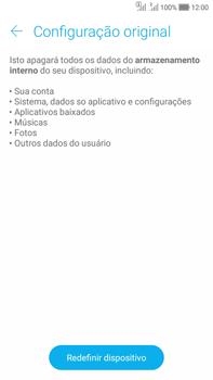 Asus Zenfone Selfie - Funções básicas - Como restaurar as configurações originais do seu aparelho - Etapa 6