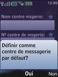 Nokia 6600i slide - SMS - Configuration manuelle - Étape 9