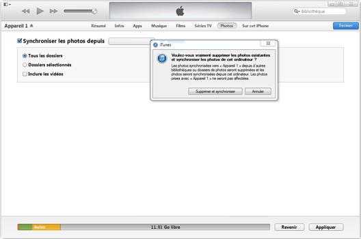 Apple iPhone XS - iOS 12 - Photos, vidéos, musique - Récupérer vos contenus multimédias avec un ordinateur - Étape 8