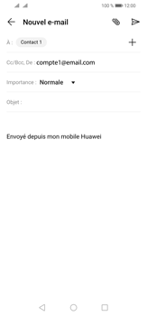 Huawei P30 Lite - E-mail - envoyer un e-mail - Étape 7