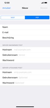 Apple iPhone XR - E-mail - Account instellen (POP3 zonder SMTP-verificatie) - Stap 11