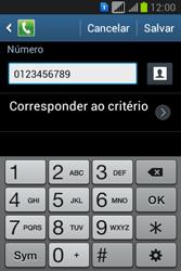 Samsung S6293T Galaxy Young Plus - Chamadas - Como bloquear chamadas de um número específico - Etapa 12