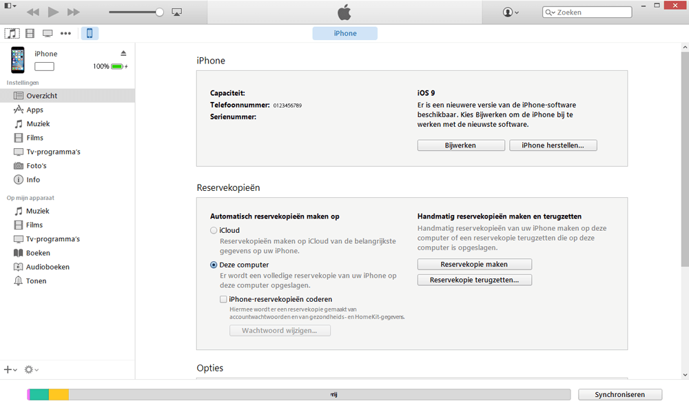 Apple iPad Mini 3 - Software - Backup maken van je toestel - Stap 3