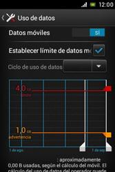 Sony Xperia E - Internet - Ver uso de datos - Paso 11