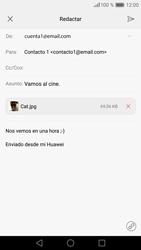 Huawei P9 Lite - E-mail - Escribir y enviar un correo electrónico - Paso 16