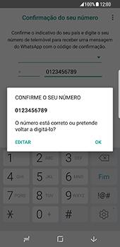 Samsung Galaxy S8 - Aplicações - Como configurar o WhatsApp -  10