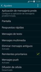 Samsung G850F Galaxy Alpha - Mensajería - Configurar el equipo para mensajes de texto - Paso 6