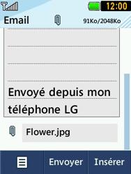 LG T580 - E-mails - Envoyer un e-mail - Étape 12