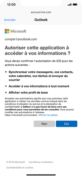 Apple iPhone XR - E-mail - Configuration manuelle (outlook) - Étape 8
