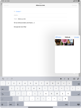 Apple iPad Pro 12.9 (2018) - E-mail - Envoi d