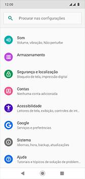 Motorola Moto G7 - Primeiros passos - Como encontrar o número de IMEI do seu aparelho - Etapa 4