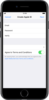 Apple iPhone 6s - iOS 12 - Applications - Create an account - Step 9