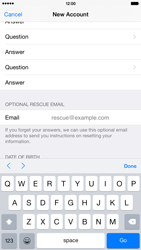 Apple iPhone 6 Plus - Applications - Create an account - Step 15