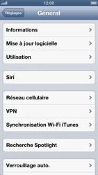 Apple iPhone 5 - Réseau - Changer mode réseau - Étape 4