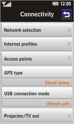 LG GC900 Viewty Smart - Internet - Manual configuration - Step 4
