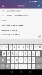 Huawei Honor 5X - E-mail - Sending emails - Step 11
