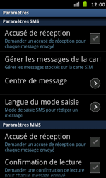 Samsung I9070 Galaxy S Advance - SMS - Configuration manuelle - Étape 4