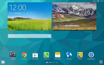 Samsung T805 Galaxy Tab S - Internet - Voorbeelden van mobiele sites - Stap 1