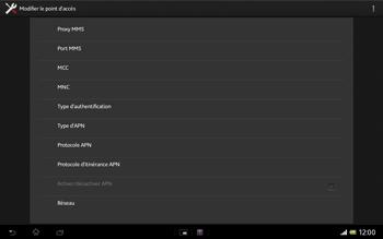 Sony SGP321 Xperia Tablet Z LTE - Mms - Configuration manuelle - Étape 12