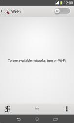 Sony D2005 Xperia E1 - WiFi and Bluetooth - Manual configuration - Step 5