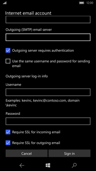 Microsoft Lumia 950 XL - Email - Manual configuration - Step 16