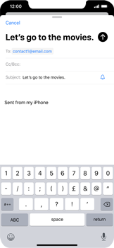 Apple iPhone XR - iOS 13 - Email - Sending an email message - Step 7