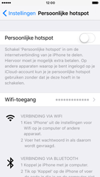 Apple iPhone SE met iOS 10 (Model A1723) - WiFi - Mobiele hotspot instellen - Stap 4
