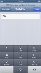 Apple iPhone 5 - Basisfunktionen - SIM-PIN aktivieren und ändern - Schritt 7