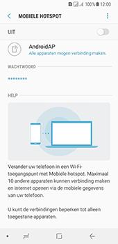Samsung Galaxy A8 (2018) (SM-A530F) - WiFi - Mobiele hotspot instellen - Stap 7