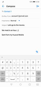 Huawei P20 Lite - E-mail - Sending emails - Step 9