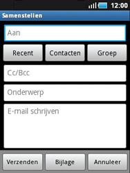 Samsung S5570 Galaxy Mini - E-mail - E-mails verzenden - Stap 5