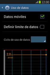 Samsung S6310 Galaxy Young - Internet - Ver uso de datos - Paso 8