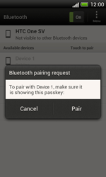 HTC C525u One SV - Bluetooth - Pair with another device - Step 9