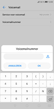 Huawei P Smart (Model FIG-LX1) - Voicemail - Handmatig instellen - Stap 8