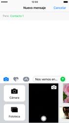 Apple iPhone 6s iOS 10 - Mensajería - Escribir y enviar un mensaje multimedia - Paso 11