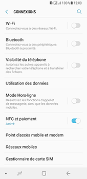 Samsung Galaxy A8 (2018) - Wifi - configuration manuelle - Étape 4