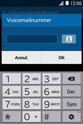 Samsung Galaxy Young2 (SM-G130HN) - Voicemail - Handmatig instellen - Stap 7