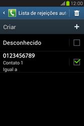 Samsung Galaxy Fame - Chamadas - Como bloquear chamadas de um número -  12