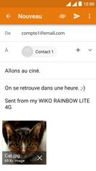 Wiko Rainbow Lite 4G - E-mails - Envoyer un e-mail - Étape 14