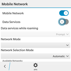 BlackBerry Classic - Internet - Enable or disable - Step 7