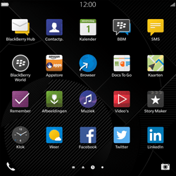 BlackBerry Passport - Contacten en data - Contacten overzetten via Bluetooth - Stap 3