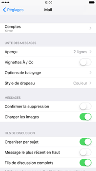 Apple Apple iPhone 6s Plus iOS 10 - E-mail - Configuration manuelle (yahoo) - Étape 9