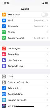 Apple iPhone X - iOS 13 - Rede móvel - Como ativar e desativar o roaming de dados - Etapa 3