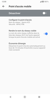 Sony Xperia XZ3 - Internet - comment configurer un point d'accès mobile - Étape 10