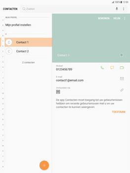 Samsung Galaxy Tab S2 9.7 - Android Nougat - Contacten en data - Contacten overzetten via Bluetooth - Stap 4