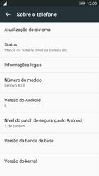 Lenovo Vibe K6 - Primeiros passos - Como encontrar o número de IMEI do seu aparelho - Etapa 4